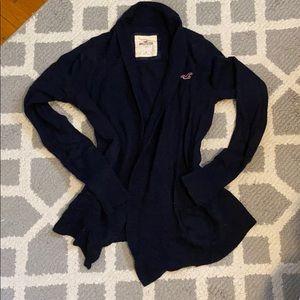 Navy open front hollister cardigan